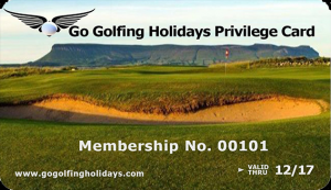 Go Golfing Holiday Privilege Card