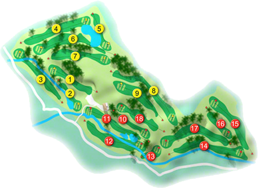 Ashbourne Golf Course Layout