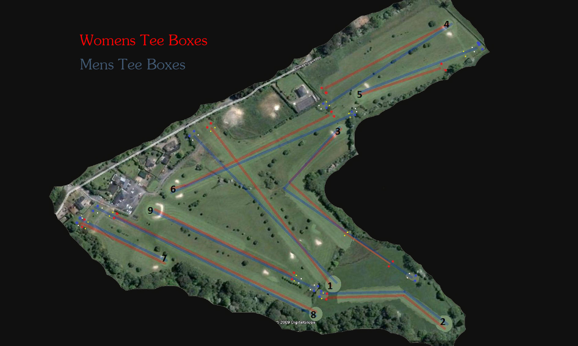 Ballinascorney Golf Course Layout