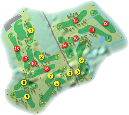 Ballinasloe Golf Course Layout