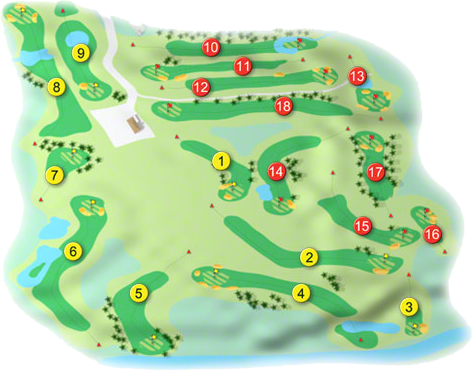Ballinrobe Golf Course Layout