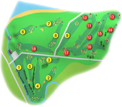 Ballycastle Golf Course Layout