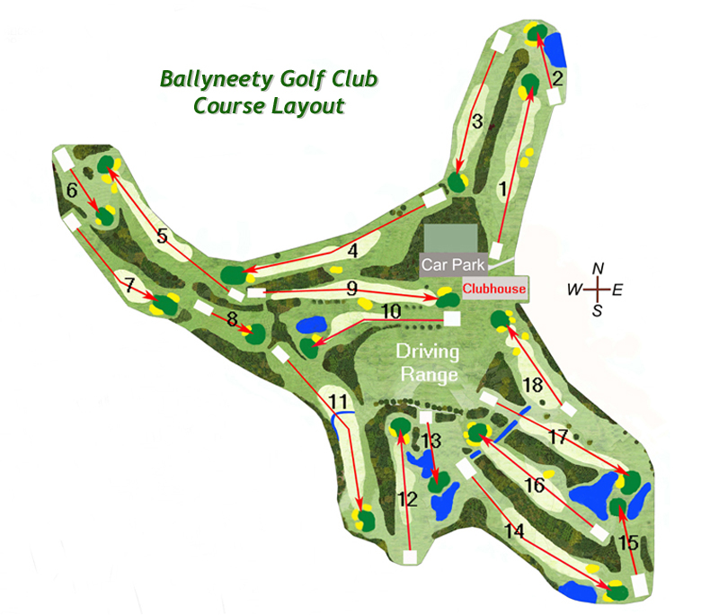 Ballyneety Golf Course Layout