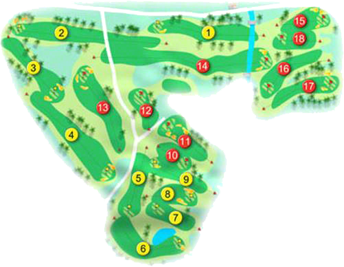 Bangor Golf Course Layout