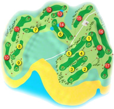 Bantry Bay Golf Course Layout