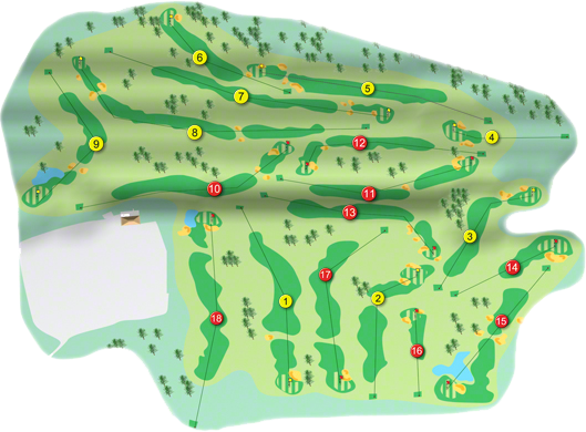 Blarney Resort Golf Course Layout