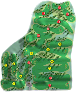 Bright Castle Golf Course Layout