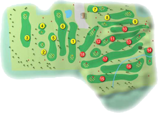 Carrickfergus Golf Course Layout