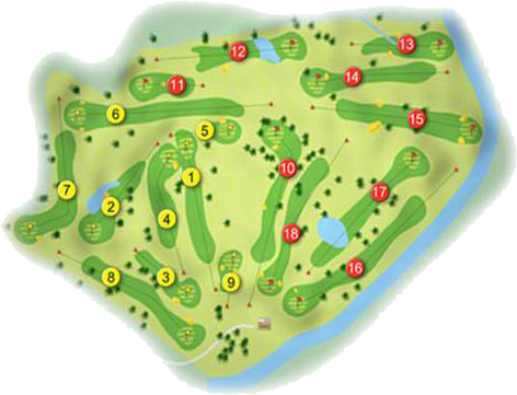 Castle Barna Golf Course Layout