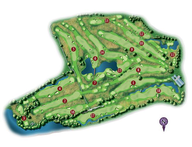 Castle Dargan Golf Course Layout