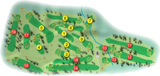 Castle Golf Course Layout