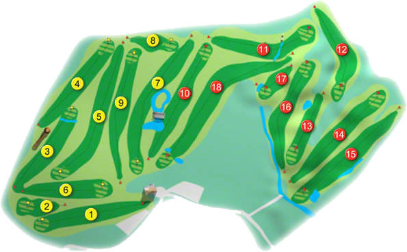 Charlesland Golf Course Layout