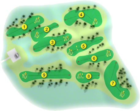 Cill Dara Golf Course Layout