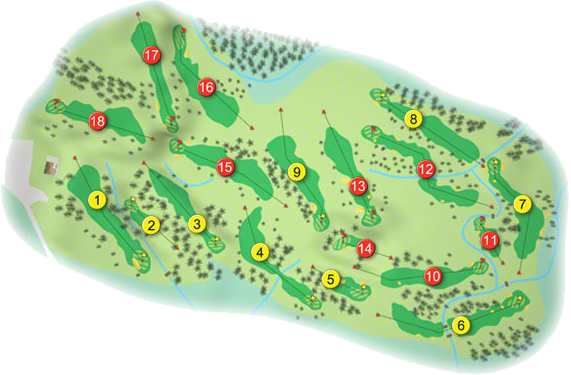 Clandeboye Golf Course Layout