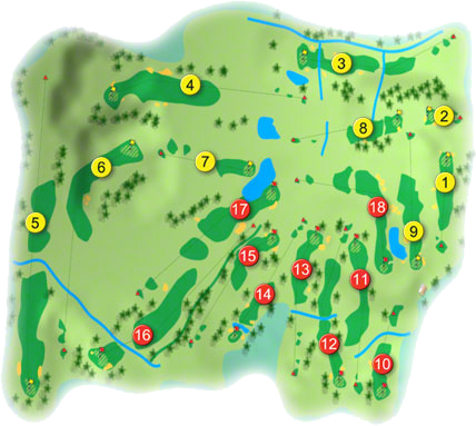 Claremorris Golf Course Layout