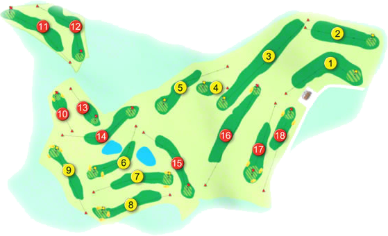 Clones Golf Course Layout