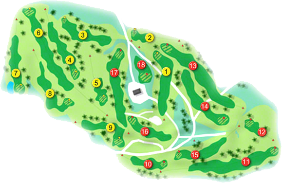 Coollattin Golf Course Layout