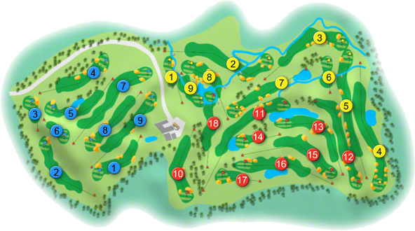 Corrstown Golf Course Layout