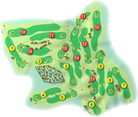Deer Park Golf Course Layout