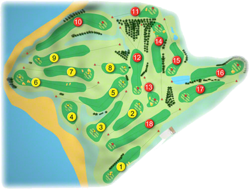 Dooks Golf Course Layout