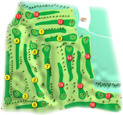 Elmgreen Golf Course Layout