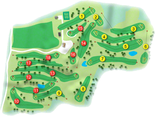 Fernhill Golf Course Layout