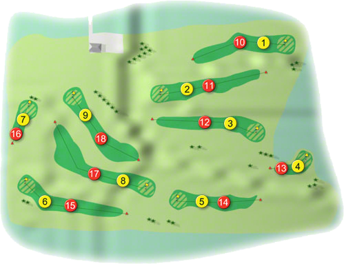 Glenlo Abbey Golf Course Layout