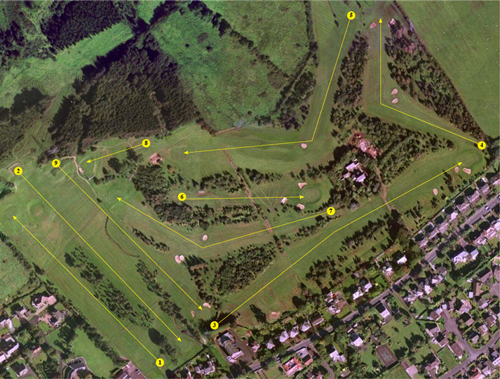 Greenisland Golf Course Layout