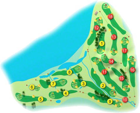 Greenore Golf Course Layout
