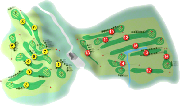 Greystones Golf Course Layout