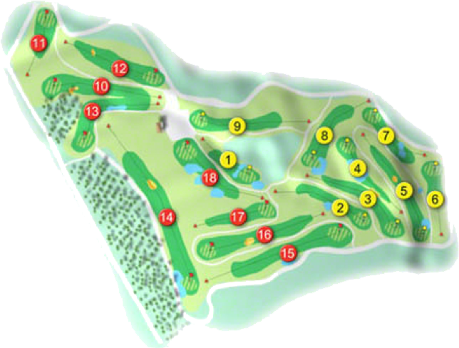 Hollywood Lakes Golf Course Layout