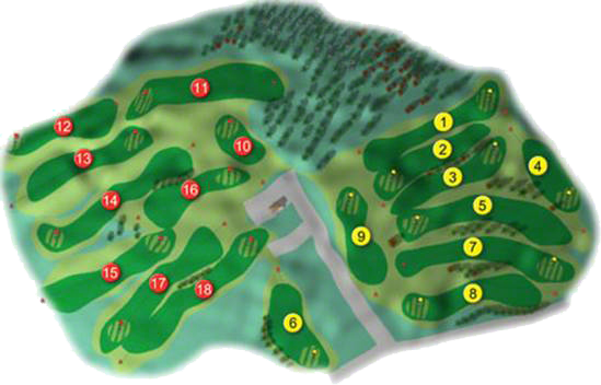 Holywood Golf Course Layout