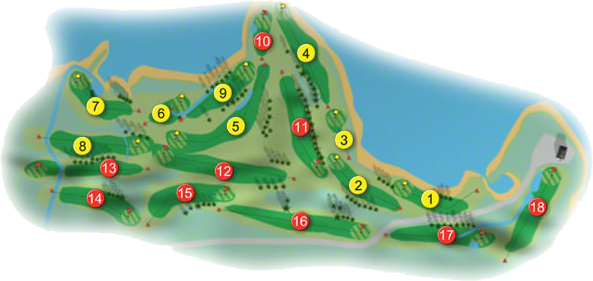 Killarney Killeen Golf Course Layout