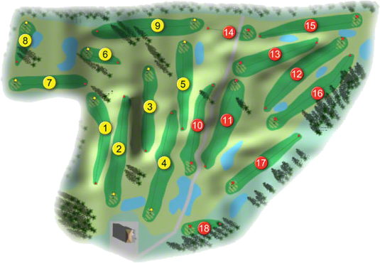 Killeen Golf Course Layout