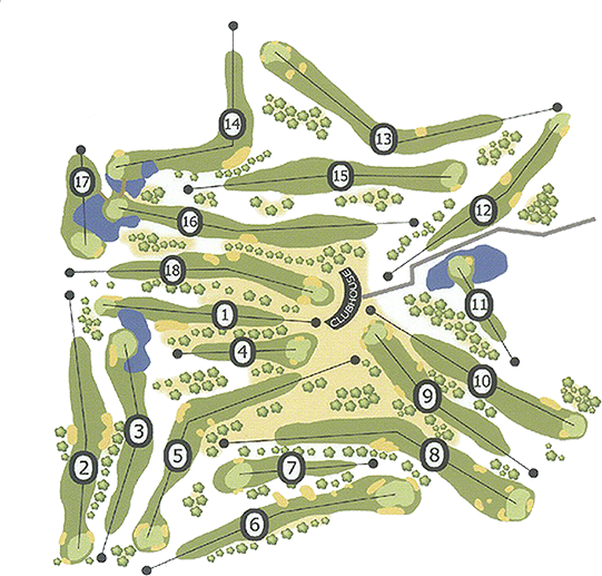 Killerig Golf Course Layout