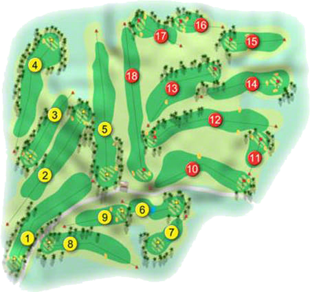 Killymoon Golf Course Layout