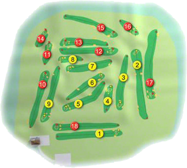 Kirkistown Castle Golf Course Layout
