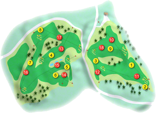 Lismore Golf Course Layout
