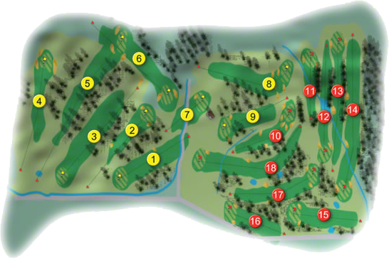Lucan Golf Course Layout