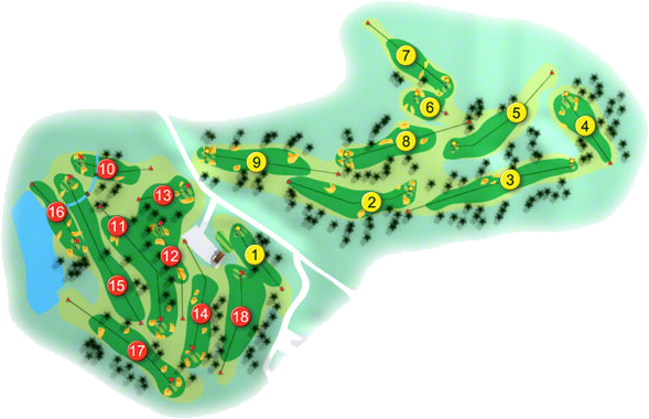 Monkstown Golf Course Layout