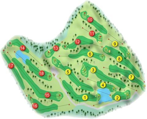 Mountain View Golf Course Layout