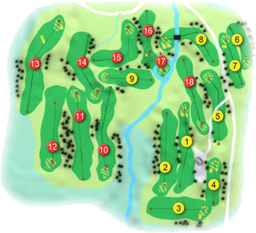Moyola Park Golf Course Layout