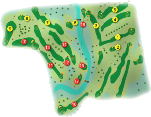 Muskerry Golf Course Layout