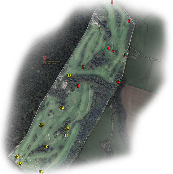 Newtownstewart Golf Course Layout