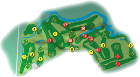 Portadown Golf Course Layout