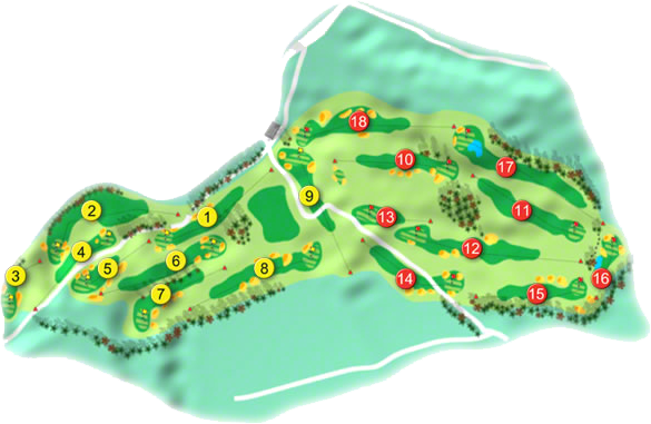 Powerscourt Golf Course Layout