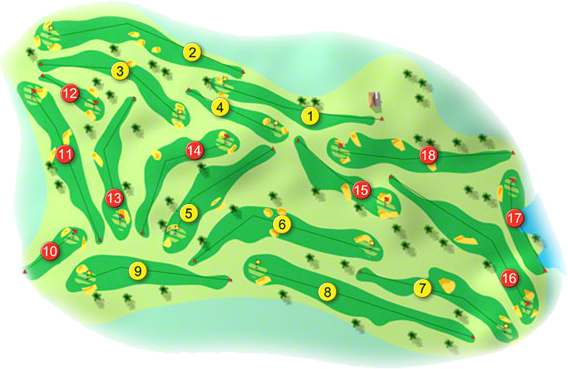 Shannon Golf Course Layout