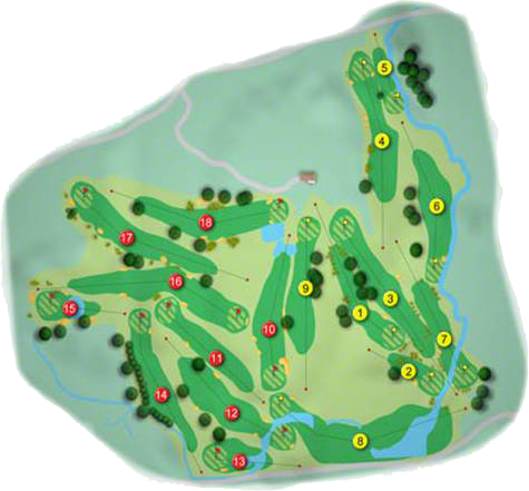 St. Margaret's Golf & Country  Golf Course Layout