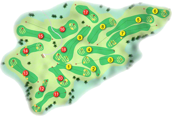 Stackstown Golf Course Layout