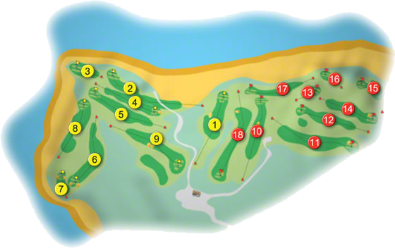 Tralee Golf Course Layout